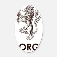 Norge1 Oval Car Magnet