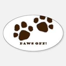 Paws Off! Oval Decal