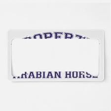arabianhorseproperty License Plate Holder
