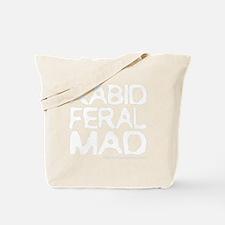 white rabid feral mad katniss everdeen hu Tote Bag