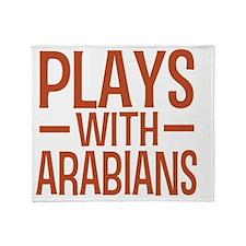 playsarabianhorses Throw Blanket