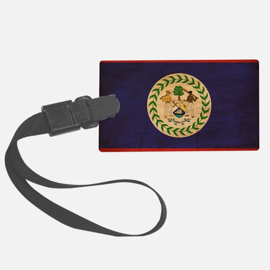 Belizetex3tex3-paint Luggage Tag