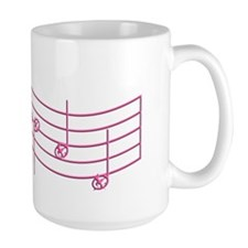 Rues Whistle Pink Emboss Ceramic Mugs