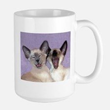 Laughing Siamese kittens Lge Mug great 4 cat lover