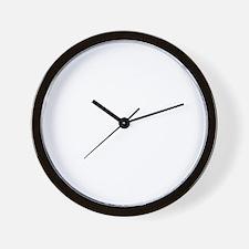Litany Against Fear (black) Wall Clock
