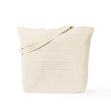 Litany Against Fear (black) Tote Bag