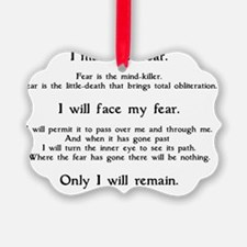 Litany Against Fear (white-Granth Ornament