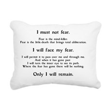 Litany Against Fear (whi Rectangular Canvas Pillow