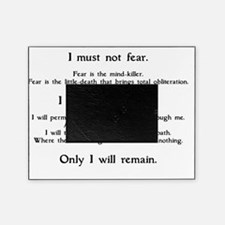 Litany Against Fear (white-Grantham) Picture Frame
