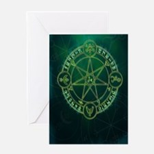 Spell_Symbols_green_BOS Greeting Card