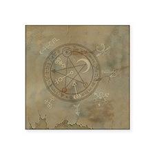 "Spell_Symbols_marble_BOX Square Sticker 3"" x 3"""