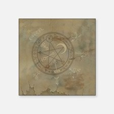 "Spell_Symbols_marble_BOX Square Sticker 3"" x 3"""