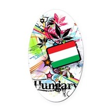 flowerHungary1 Oval Car Magnet