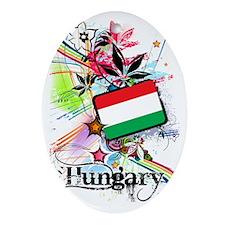 flowerHungary1 Oval Ornament