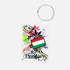 flowerHungary1 Aluminum Photo Keychain