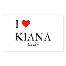 I Love Kiana Rectangle Decal