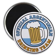 Argentinian Drinking Team Glass Magnet