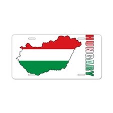 MapOfHungary1 Aluminum License Plate