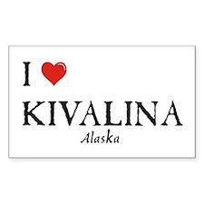 I Love Kivalina Rectangle Decal
