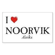 I Love Noorvik Rectangle Decal