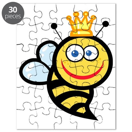 png_2686-Royalty-Free-Smiling-Queen-Bee-Car Puzzle