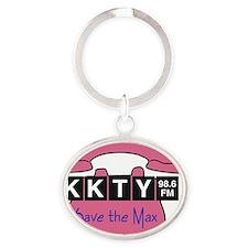 saveTheMax_tshirt Oval Keychain