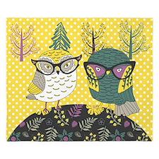 Trendy Owls King Duvet