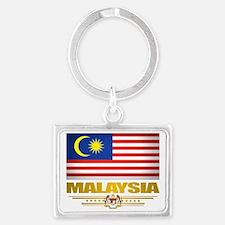 Malaysia (Flag 10) 2 Landscape Keychain