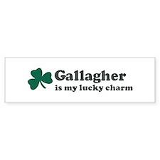 Gallagher is my lucky charm Bumper Bumper Sticker