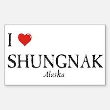 I Love Shungnak Rectangle Decal