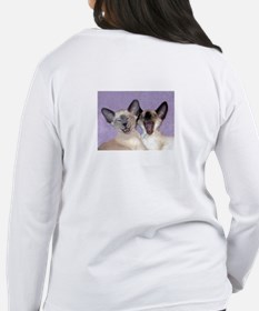 Siamese/Burmese Cats Women's Long Slve T-Shirt