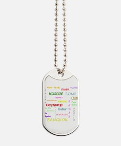 Famous Cities Dog Tags