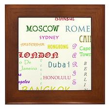 Famous Cities Framed Tile