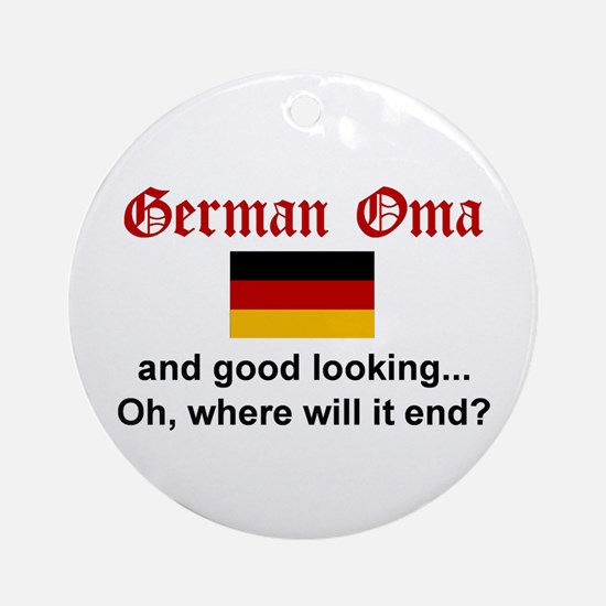 Good Looking German Oma Ornament (Round)