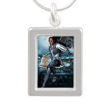 ANGEL_Gabriel_postcard Silver Portrait Necklace