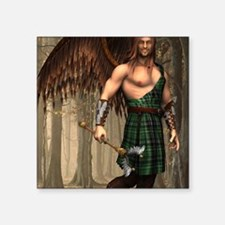 "ANGEL_Uriel_notecard Square Sticker 3"" x 3"""