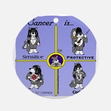 cancer Round Ornament
