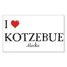 I Love Kotzebue Rectangle Decal