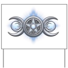 Triple Goddess - Moonstone - transparent Yard Sign