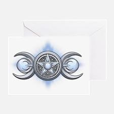 Triple Goddess - Moonstone - transpa Greeting Card