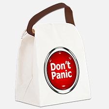 z-button-dontpanic Canvas Lunch Bag