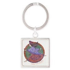 Follow Your Dreams Square Keychain