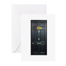 221B Door Greeting Cards