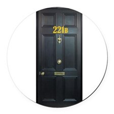 221B Door Round Car Magnet