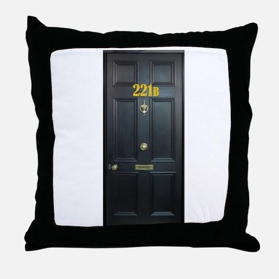 221B Door Throw Pillow