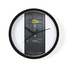 221B Door Wall Clock
