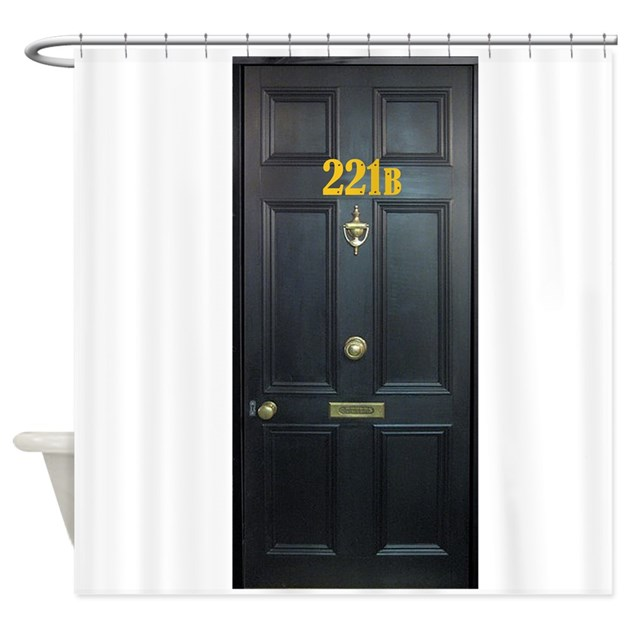 221b Door Shower Curtain By Fandomsrock