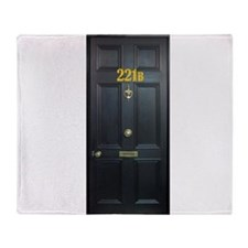 221B Door Throw Blanket