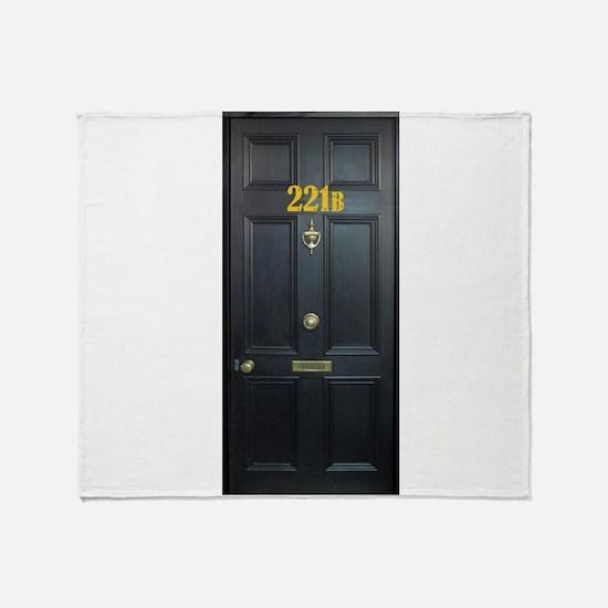 221B Door Throw Blanket