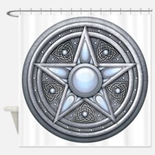 Pentacle - silver moonstone - trans Shower Curtain